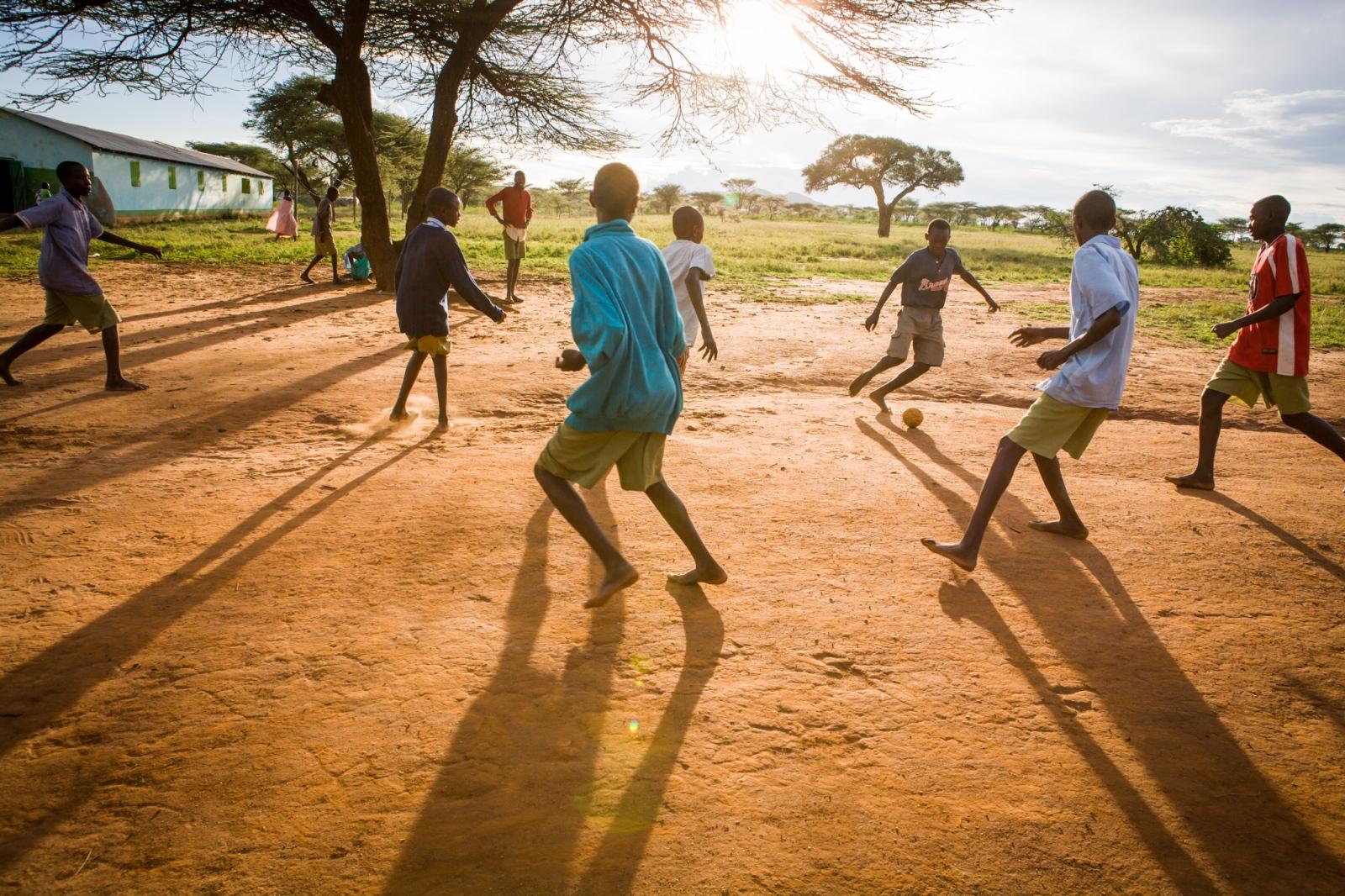 Fütbol. Wamba, Kenya.